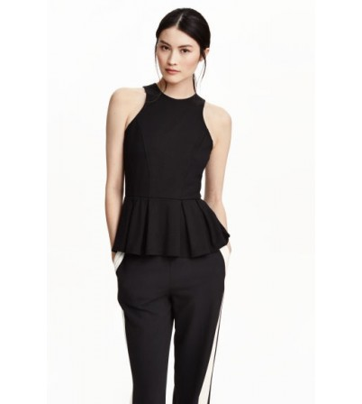 Sleeveless peplum top-XTAA-03