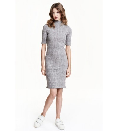 Ribbed turtleneck dress  H&M-XTAA05