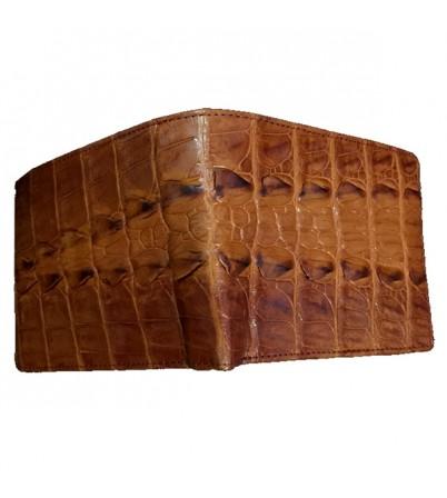 Bóp da cá sấu màu vàng nguyên con-VDCS-23