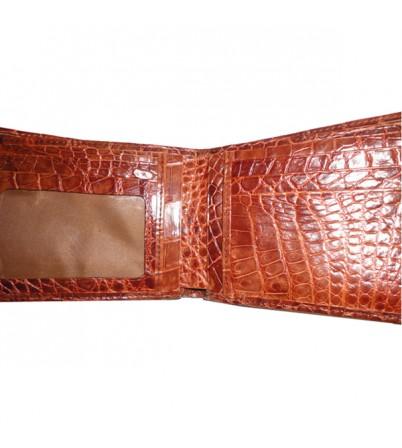 Ví da cá sấu 2 mặt vàng-VDCS-24
