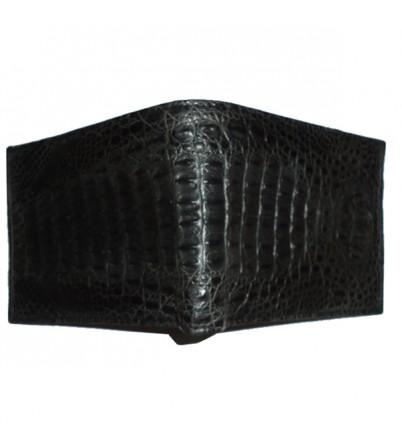 Ví da cá sấu nguyên con màu đen-VDCS-31