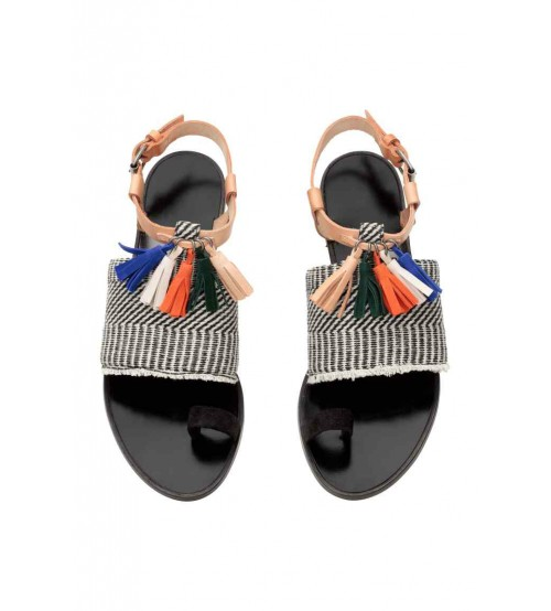 Sandals with tassels-XD36